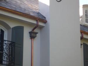 Copper Gutter installed in Los Angeles area